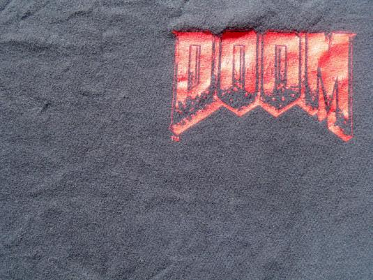 Vintage 1993 Doom Video Game Promo Black T Shirt XL