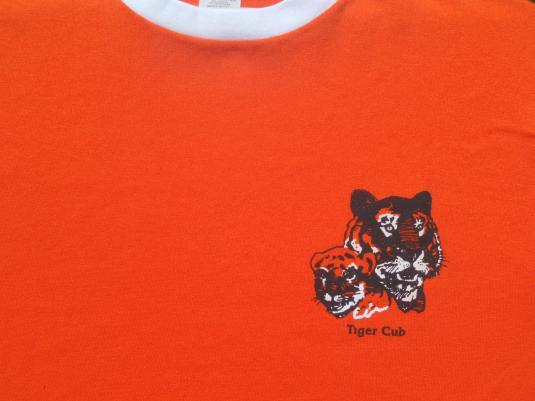 Vintage 1990s Tiger Cub Scouts Orange Ringer T-Shirt M