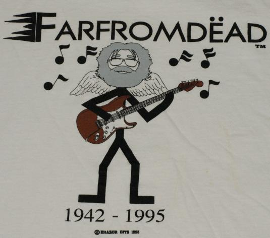 Jerry Garcia Tribute Grateful Dead Fahrvergnugen T Shirt Humor, funny, nastalgic, farfegnugen, quote. defunkd