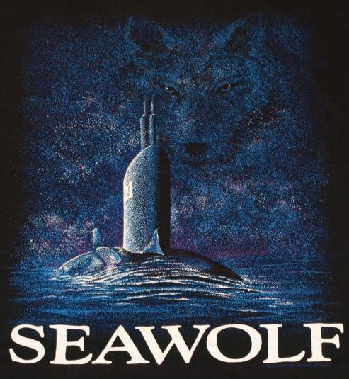 Vintage Sea Wolf Submarine Video Game Black T-Shirt