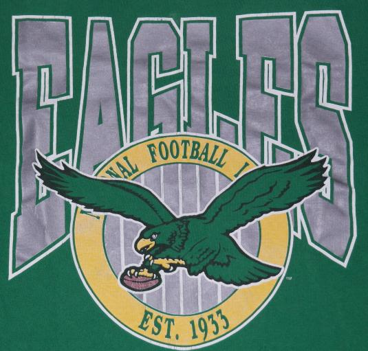 more photos 7a28b 2e5b6 Vintage 1980s Philadelphia Eagles NFL Football T-Shirt