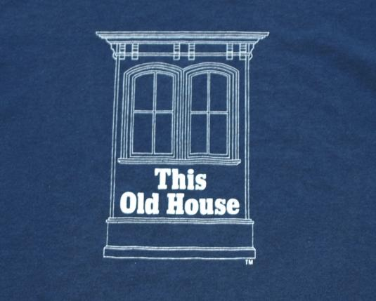 Vintage 1980s bob vila this old house pbs blue t shirt tv for This old housse