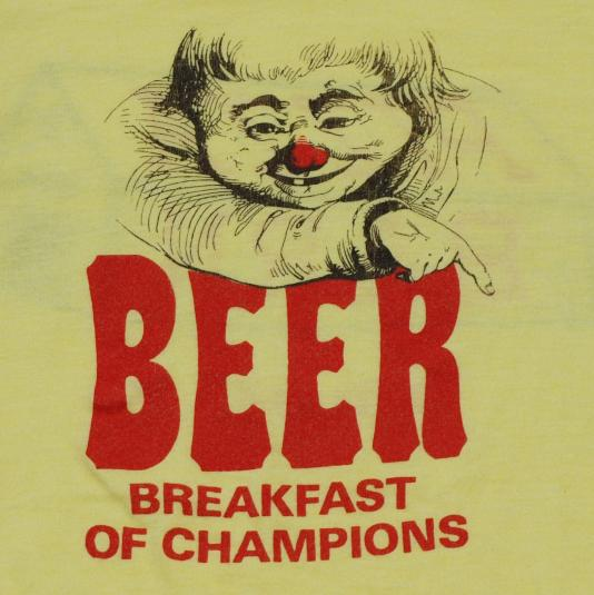 a90066b7e Vintage 1980s Beer Breakfast of Champions T Shirt