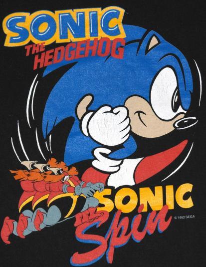 Vintage 1990s Sega Sonic The Hedgehog Video Game T Shirt