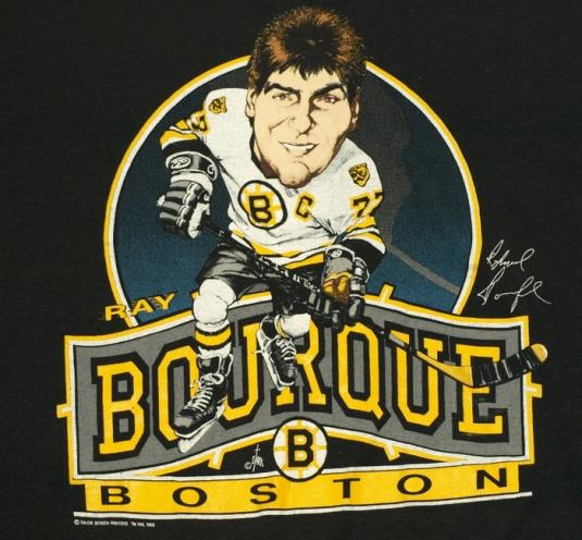 1980s RAY BOURQUE Boston Bruins Caricature Tee
