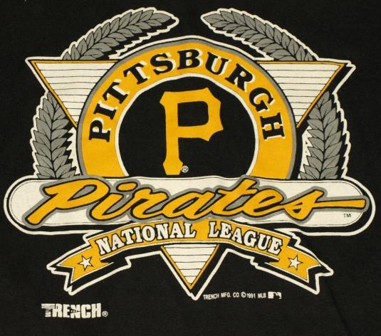 Vintage 1990s Pittsburgh Pirates Logo Mlb Baseball T Shirt