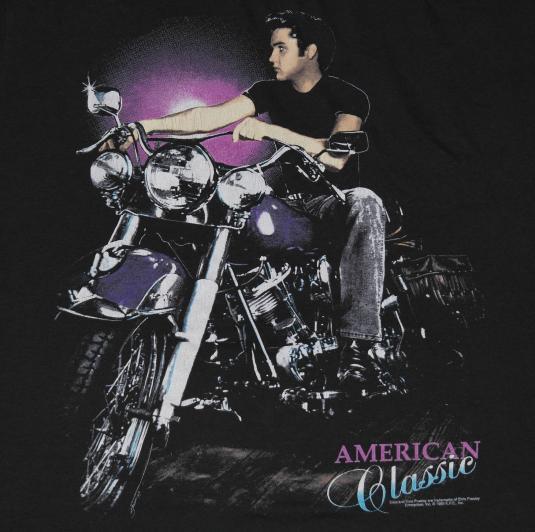Vintage Elvis Presley Motorcycle Biker T-Shirt American