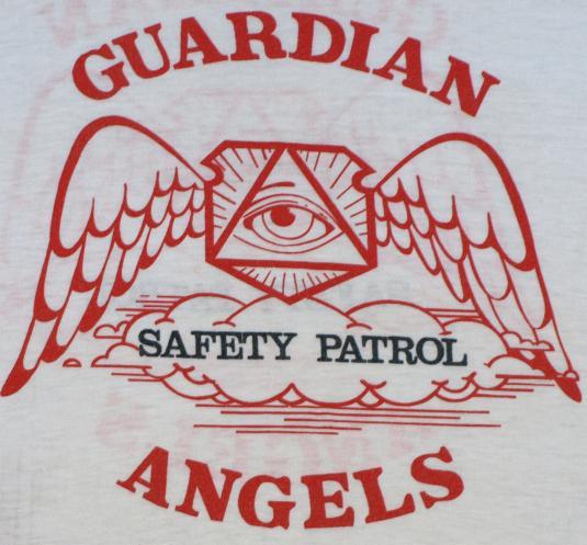 902e32914 Vintage 1980s Guardian Angels Safety Patrol T-Shirt