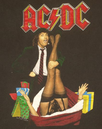 Vintage 1990 AC/DC Mistress For Christmas Tour T-Shirt