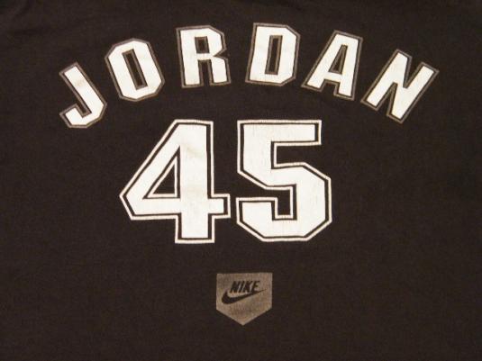 Vintage Nike Michael Jordan  45 White Sox Baseball T-Shirt 44c008fe0