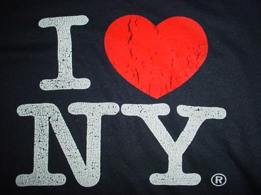 Vintage I Love New York Cracked  T