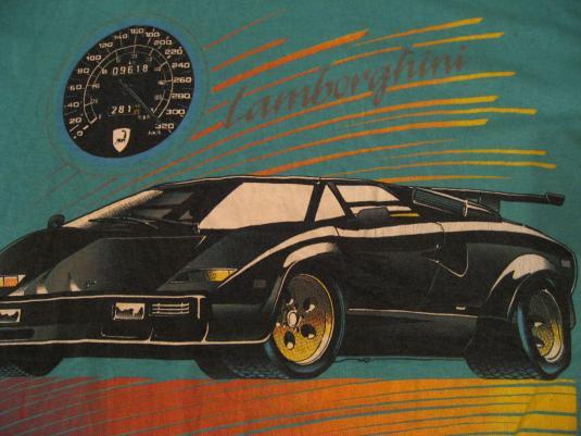 Vintage Lamborghini Countach T Shirt Lambo S