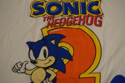 Vintage Sonic The Hedgehog Sega T Shirt L Xl
