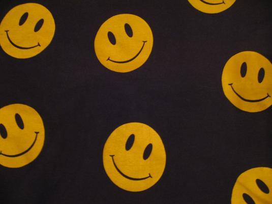Vintage acid house smiley jumper 1980s rave t shirt l for Acid house labels