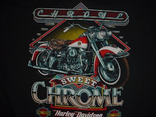 Vintage Harley Davidson T Shirt Chrome Hog Heaven Miami Xl