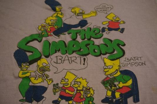 vintage the simpsons bootleg bart t shirt playboys m s