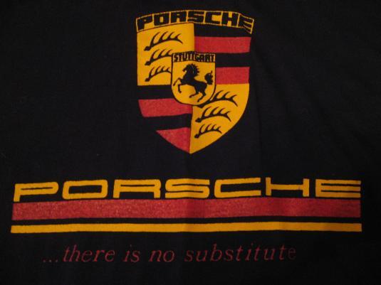 Vintage Porsche No Substitute 1980s Slogan T Shirt M L
