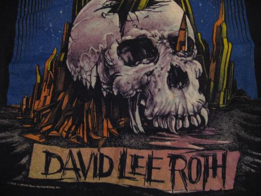 7926abf3359 Vintage David Lee Roth Skyscraper T-Shirt Tour 1988 M