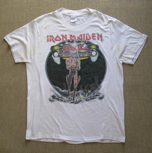 1987 iron maiden world tour tshirt