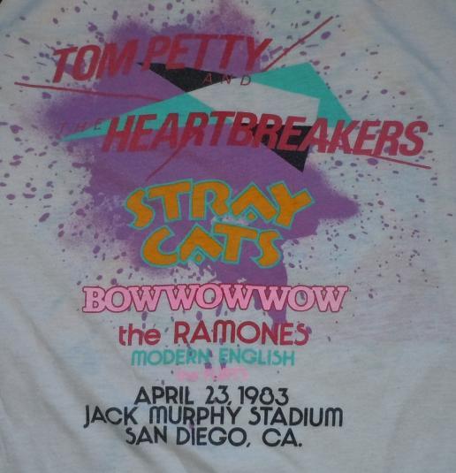 1983 X Fest Concert Festival T Shirt Tom Petty Ramones More