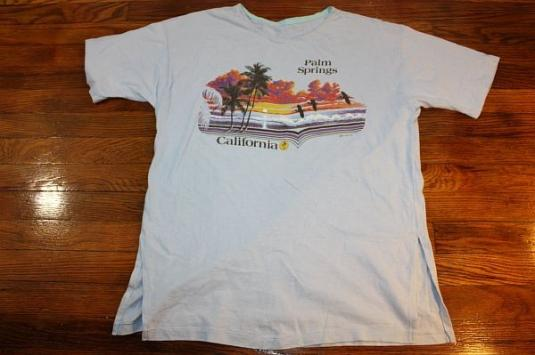 L vintage 80s 1982 palm springs california t shirt for T shirt city palm springs