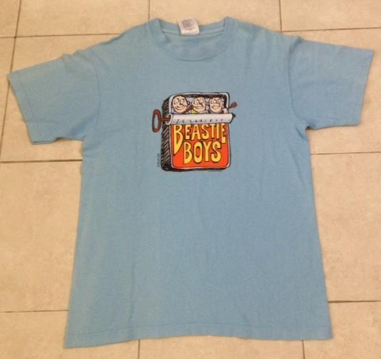 Vintage 1998 Beastie Boys T Shirt Hello Nasty Rap Dj Medium