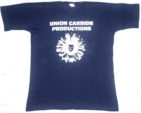 Vintage 80 39 s union carbide production t shirt for Mass t shirt production