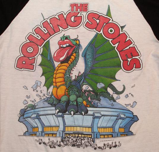 VINATGE ROLLING STONES 1981 T-SHIRT RAGLAN S