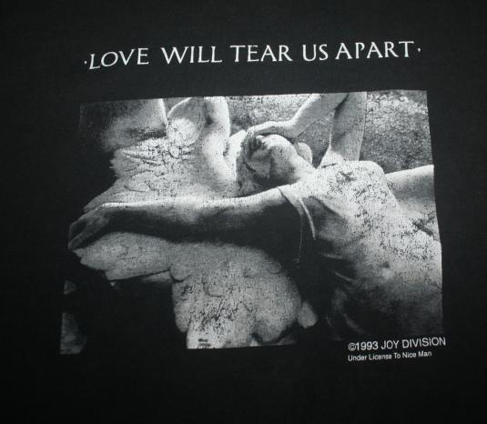 Vintage 1993 Joy Division Love Will Tear Us Apart T-Shirt