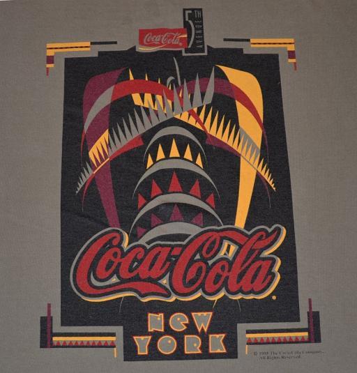 Chrysler For Sale >> Vintage 90s Coke NYC Chrysler Building Art Deco T-Shirt -M/L