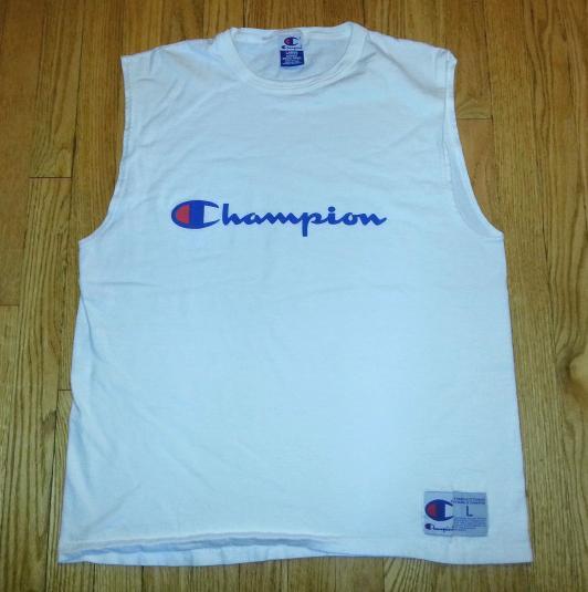 90s Champion Sleeveless T Shirt Athletic Basketball L Xl