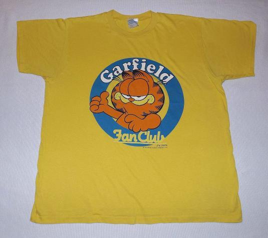 Vintage 70s Garfield Fan Club T Shirt 1978 Jim Davis Sz Xl