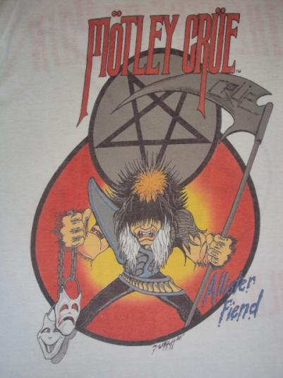 Sell By Owner >> VINTAGE MOTLEY CRUE ALLISTER FIEND 1985 TOUR RARE
