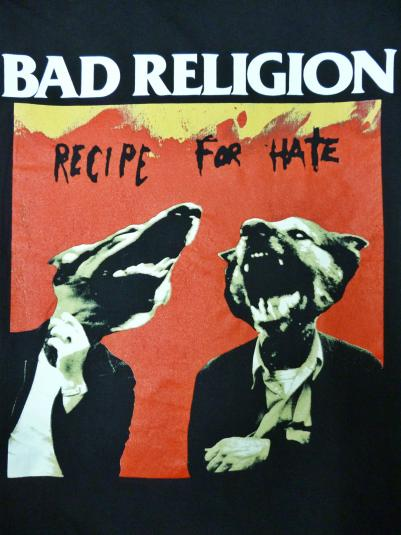 vintage bad religion recipe for hate t