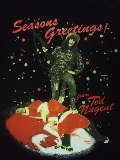 vintage ted nugent 1990 whiplash bash santa claus tour