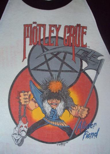 VINTAGE MOTLEY CRUE ALLISTER FIEND 1985 TOUR
