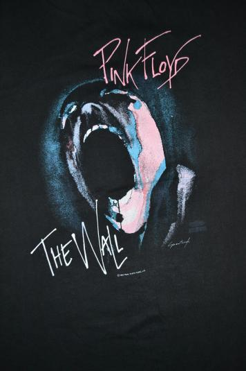 Pit Crew Shirts >> VINTAGE 1982 PINK FLOYD THE WALL CONCERT T-SHIRT