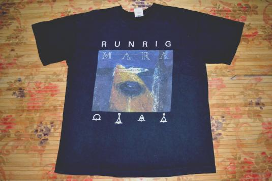 Vintage 90s Runrig Mara Concert Promo Scottish Rock T Shirt