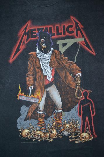 Pit Crew Shirts >> Vintage 1994 METALLICA The Unforgiven T-shirt