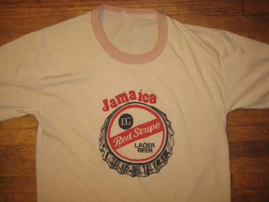 0fff64671d vintage Jamaica Red Stripe beer t-shirt, CRAZY soft & thin!!
