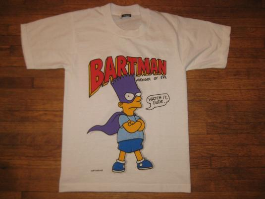 vintage 1989 1990 bartman t shirt small the simpsons. Black Bedroom Furniture Sets. Home Design Ideas