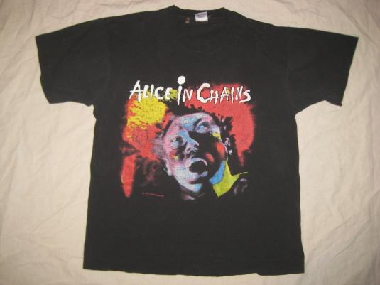 Vintage 1990 Alice In Chains Facelift T Shirt