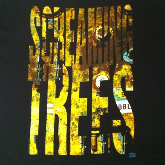 vintage 1992 screaming trees grunge rock tshirt