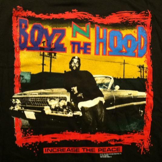 vintage 1991 boyz n the hood hip hop movie ice cube t