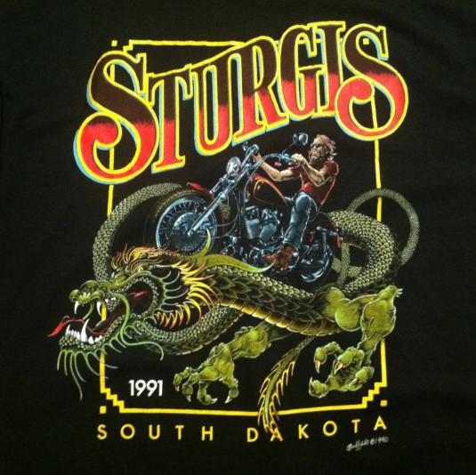 Vintage 1991 Sturgis Motorcycle Rally T Shirt