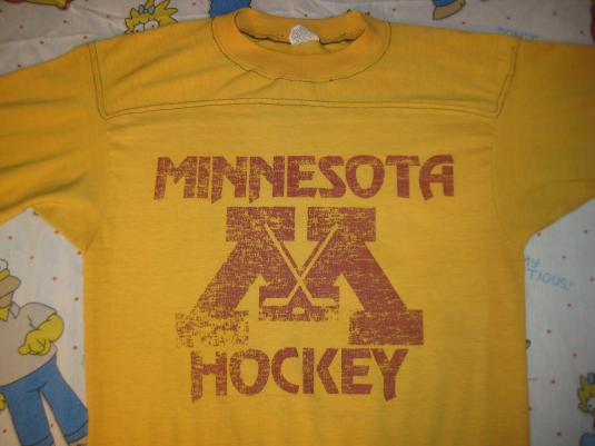 Vintage 1970 39 s mn hockey jersey t shirt soft and thin for Retro nhl t shirts