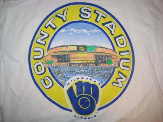 new styles 30d6c d050f Vintage 1989 Milwaukee Brewers County Stadium t-shirt, XL