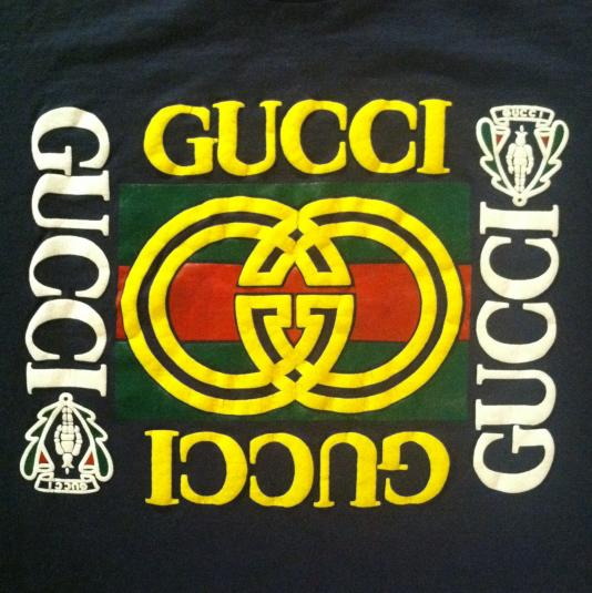 vintage late 80s early 90s gucci puffy ink tshirt