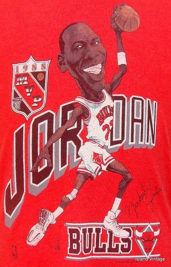 Vintage 88\' Michael Jordan caricature t shirt M