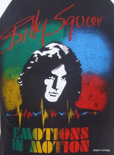 vintage 80 u0026 39 s billy squier emotions in motion rock t shirt m